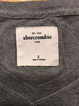 Abercrombie Kid's Girl's Gray Long Sleeve V-Neck Shirt - Size Small image 10