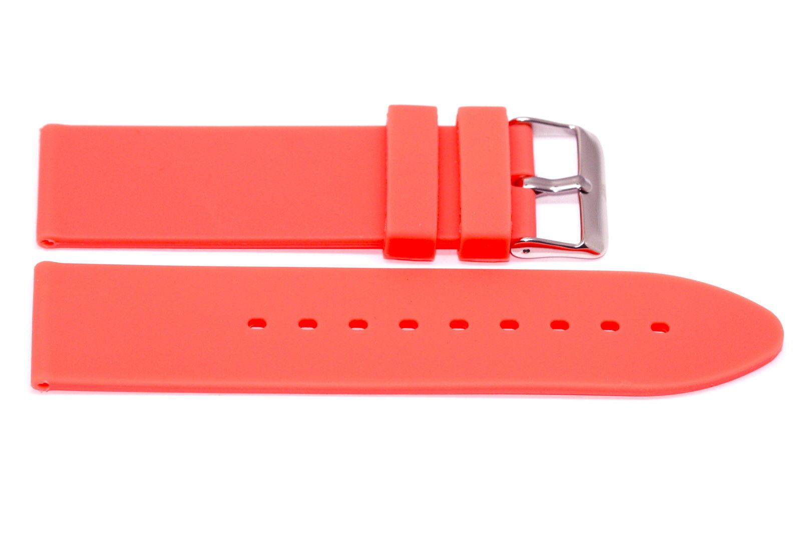 Primary image for 22MM ORANGE RUBBER SILICONE SPORT DIVER STRAP WATCH BAND FITS NIXON