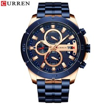 CURREN Men Watch    Watches Stainless Steel Business Wristwatches Men Clock Relo - $53.03
