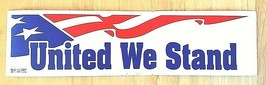UNITED WE STAND - 911 COMMEMORATIVE USA FLAG DECAL- AMERICAN FLAG DESIGN - $1.48
