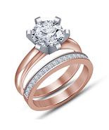 Solitaire 1.30Ct Diamond Engagement Ring Wedding Bridal Set 14K Rose Gol... - $87.99