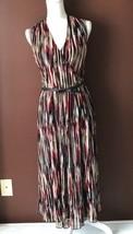 Anne Klein New York red black cream sleeveless empire waist  dress size XS - $19.64