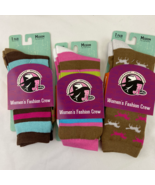 Justin Boots Gypsy Collection Womens Fashion Crew Socks Three Pair New M... - $18.80