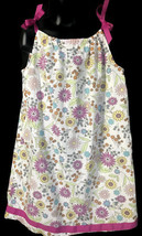 Hanna Andersson Pillowcase Dress Girls 140 10 Floral Retro Mod Summer - $14.84