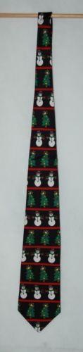 Save The Children Collection Christmas Cheer Necktie Snowman Tree