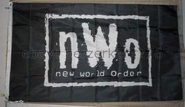 NWO New World Order Wrestling 3'x5' flag banner - WCW, WWF, WWE USA Seller ship - $25.00