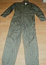 Us Air Force Desert Storm Flight Suit (Coveralls) Cwu 27/P Sage Green Sz 42L - $77.39
