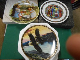 Great Collection 3  COLLECTOR PLATES  Knowles-Hamilton & D'arceau-Limoges - $17.41