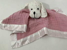 Aden & Anais Baby Security Blanket puppy dog white pink hearts Musy mate lovey - $49.49