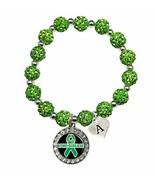 Holly Road Custom Lyme Disease Awareness Green Bling Bracelet Jewelry Ch... - $16.82