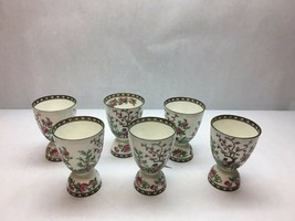 VINTAGE Coalport CHINA Indian SUMMER Pattern SET OF 6 Double EGG CUPS Bo... - $89.09