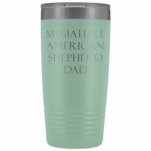 Primary image for Miniature American Shepherd Dad v2-20oz Vacuum Tumbler - Teal