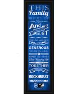 """Rockhurst University Hawks - 24 x 8 """"Family Cheer"""" Framed Print - $39.95"""
