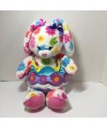 Tye Dye Flower Bunny in Easter Egg Costume Plush Stuffed Animal Build a ... - $19.34