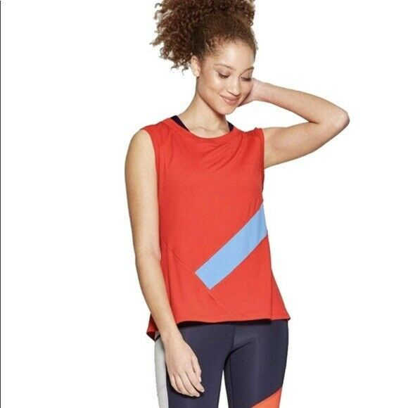 Primary image for Champion C9 Red Duo Dry Women's Sleeveless Activewear Top Size XXL NWT