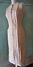 New Oscar De La Renta Stunning Casual Ivory Front Zipper Dress Us Size S/M - $246.51
