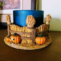 Country Cornfield 3-Wick Candle Holder | Scarecrow | Pumpkin | Cat | Autumn - $49.45