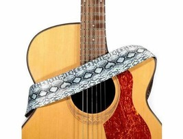 Guitar Strap with Adjustable Buckle and Leather Ends, 2 inches Wide image 2