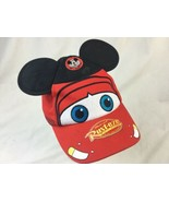 Disney Parks Disney World CARS Lightning McQueen Mickey Mouse Ears Youth... - $18.69