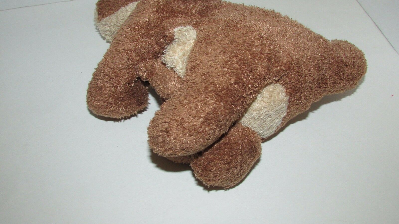 Brown cream tan Kangaroo mom baby joey beanbag plush soft floppy no tags image 5