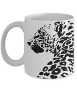 Leopard Print Trendy Black And White Big Cats Coffee Mug Gift - $14.84+