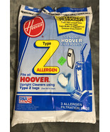 Hoover Z Type Vacuum Bags Allergen Filtration Bags 3 Pack Opened 4010100Z - $8.90