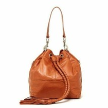 Rebecca MInkoff Tess Braided Drawstring Leather Bucket Bag ~NWT~ Almond - $193.05