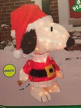 "Last New Christmas Peanuts Animated 26"" Snoopy Lighted Tinsel Yard Decor... - $98.99"