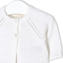 Mayoral Baby Girl 0M-12M Fancy Edge Knit Bolero Cardigan Sweater image 3