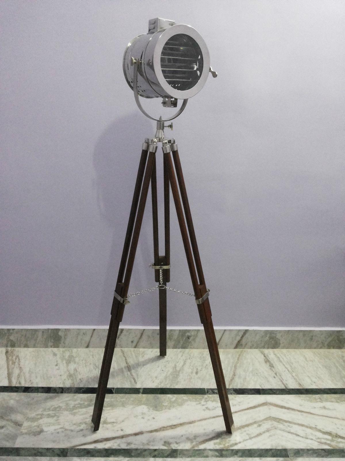 Nautical Vintage Spotlight Antique Search Light Floor Lamp