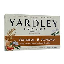 Yardley Moisturizing Bar Naturally, Natural Oatmeal and Almond - 4.25 Oz, 6 Pack - $21.99