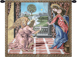 Annunciation Botticelli Tapestry Wall Art Hanging - $245.85