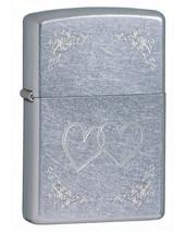 Zippo Heart to Heart Street Chrome Lighter - $25.85