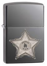Zippo Sheriff Badge Black Ice Lighter - $35.85