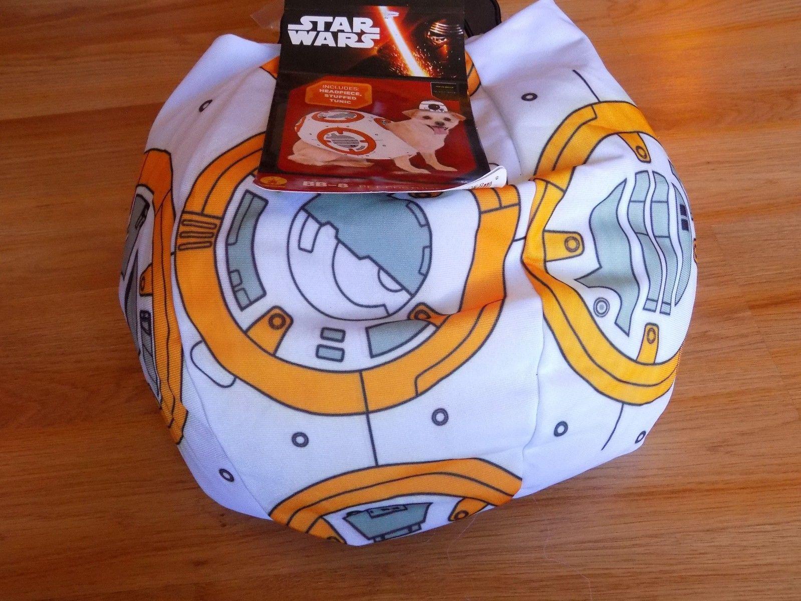 Size Small Disney Star Wars Droid BB-8 Pet Dog Halloween Costume Stuffed Tunic