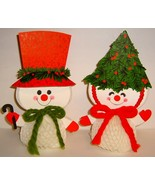 HALLMARK - Vintage Mr & Mrs Snowman Honeycomb Folding Centerpiece - $12.00