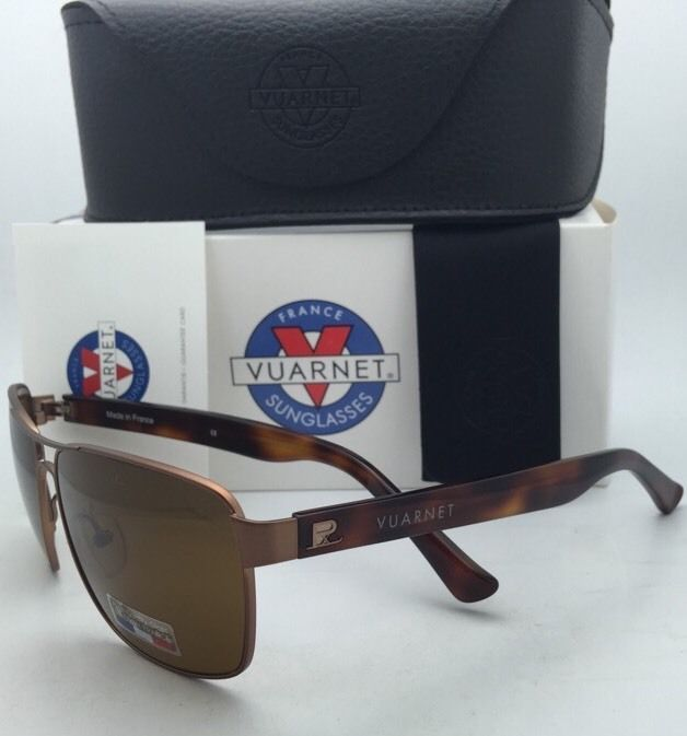 Polarized VUARNET Sunglasses VL 1115 0004 Bronze Frames w/POLARLYNX PX2000 Brown