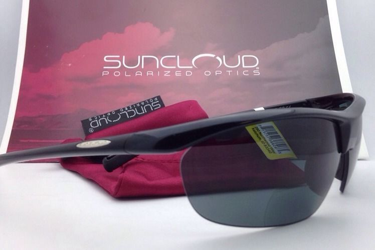 New SUNCLOUD POLARIZED OPTICS Sunglasses ZEPHYR Black w/ Grey +2.5 READER Lenses