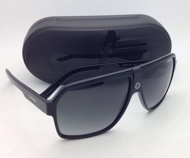 New Sunglasses CARRERA 33/S 807PT 62-11 Black Aviator Frame with Grey Gradient