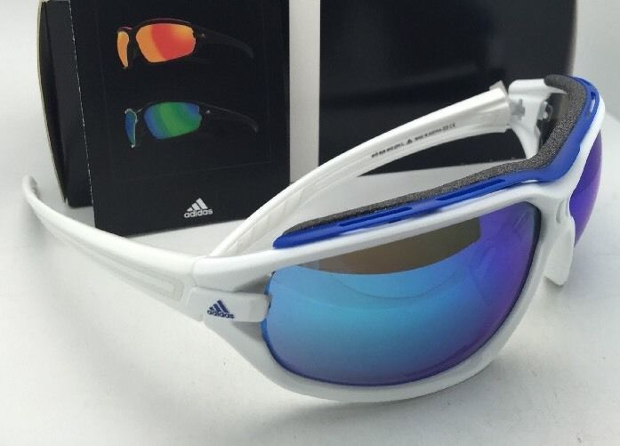online store 4cd1a d2500 New ADIDAS Sunglasses EVIL EYE EVO PRO L A193 6052 White Frame w Blue  Mirror