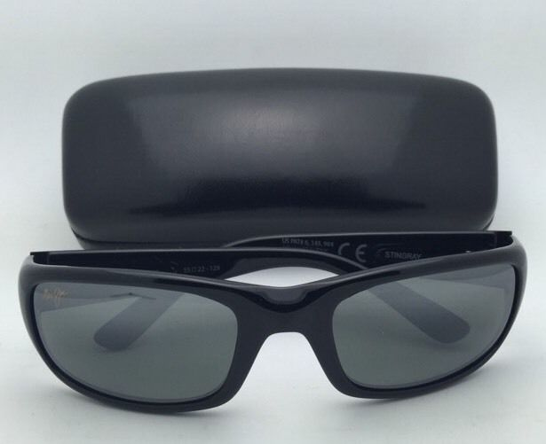218fdb51e57 Polarized Maui Jim Sunglasses MJ 103-02 STINGRAY Black Frame w Neutral Grey  Lens