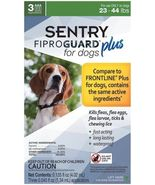 Sentry 3 Count Fiproguard Plus For Dogs Squeeze-on (23-44 pound) - $22.95