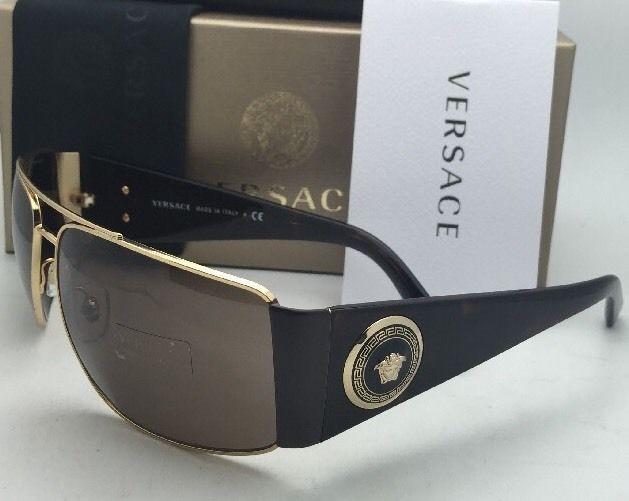 f9366ac098b New VERSACE Sunglasses VE 2163 1002 73 63-15 Gold   Tortoise Frames w