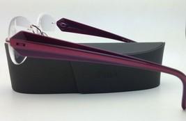 New SILHOUETTE Eyeglasses MYSTERO 6699 6052 54-17 Burgundy w/ Clear Demo lenses image 5