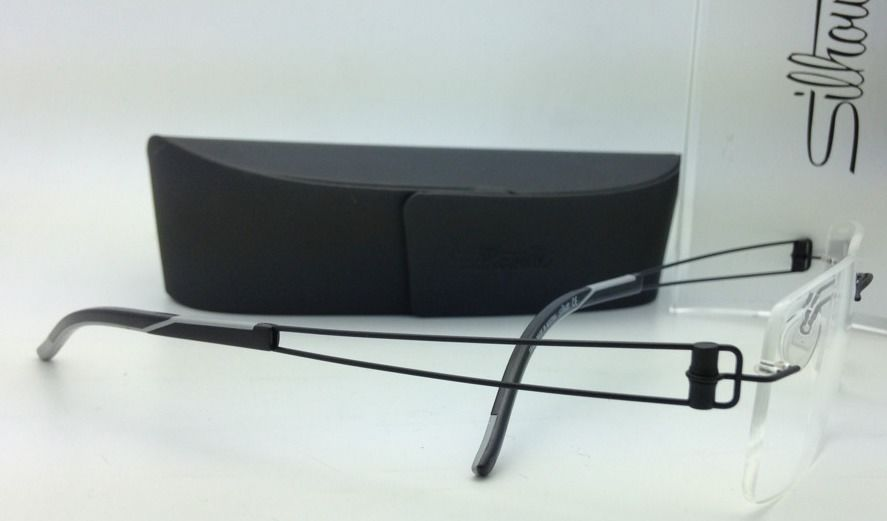 New SILHOUETTE Eyeglasses TITAN ELEMENTS 7754 6060 54-19 Black w/ Clear lenses