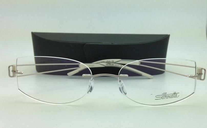 New SILHOUETTE Eyeglasses TITAN ELEMENTS 4259 6054 52-17 Silver with Demo lenses