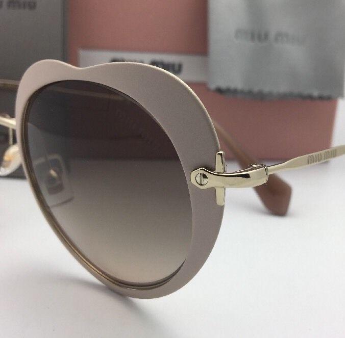 65e55f3988b MIU MIU Sunglasses SMU 54R U6I-3D0 52-20 Pink-Gold Heart Shape