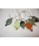 Unique Gemstone Handcrafted Wine Glass Charms - $20.00