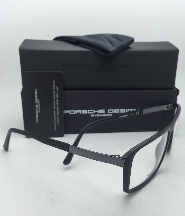 96bfe86284 New PORSCHE DESIGN Titanium Eyeglasses P 8259 A 57-15 140 Matte Black Frames