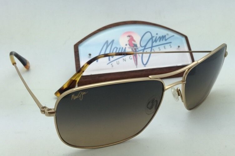 Polarized MAUI JIM Sunglasses WIKI WIKI MJ 246-16 Gold Frame w/HCL Bronze Lenses